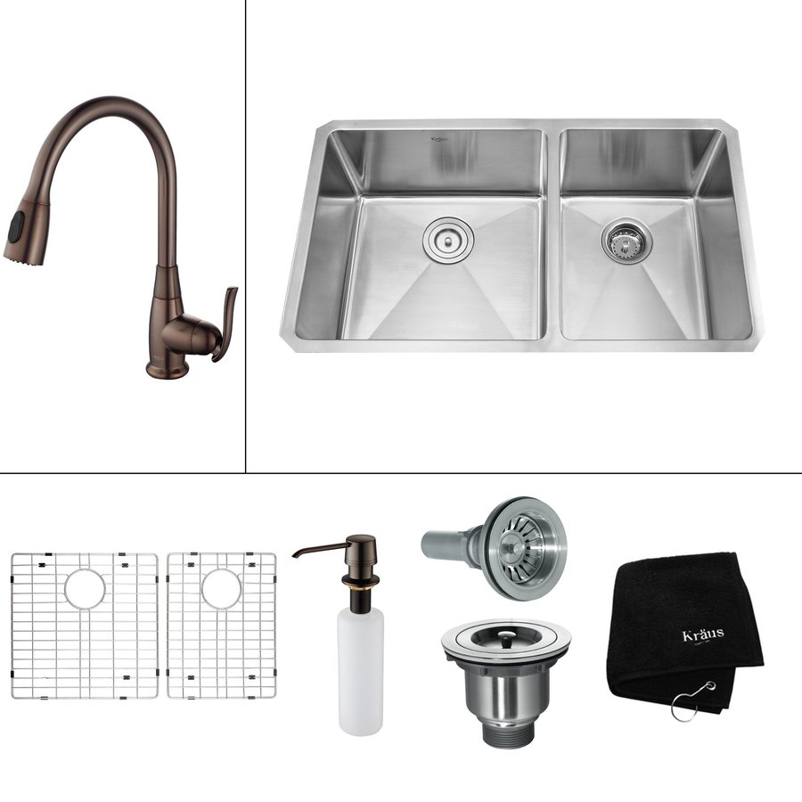 ... Basin Undermount Residential Kitchen Sink All-In-One Kit at Lowes.com