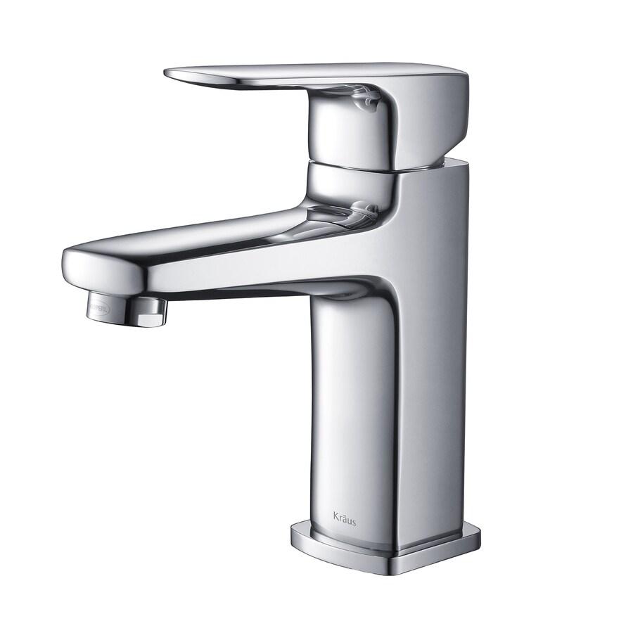Kraus Virtus Chrome 1-Handle Single Hole WaterSense Bathroom Faucet