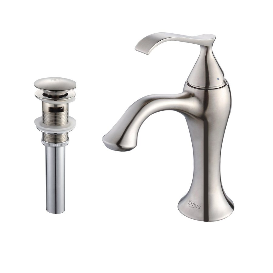 Shop kraus ventus brushed nickel 1 handle single hole - Single hole bathroom faucets brushed nickel ...