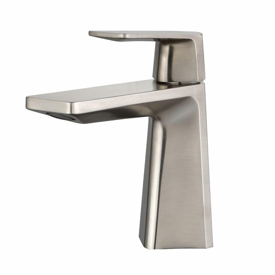 Kraus Exquisite Brushed Nickel 1-Handle Single Hole WaterSense Bathroom Faucet