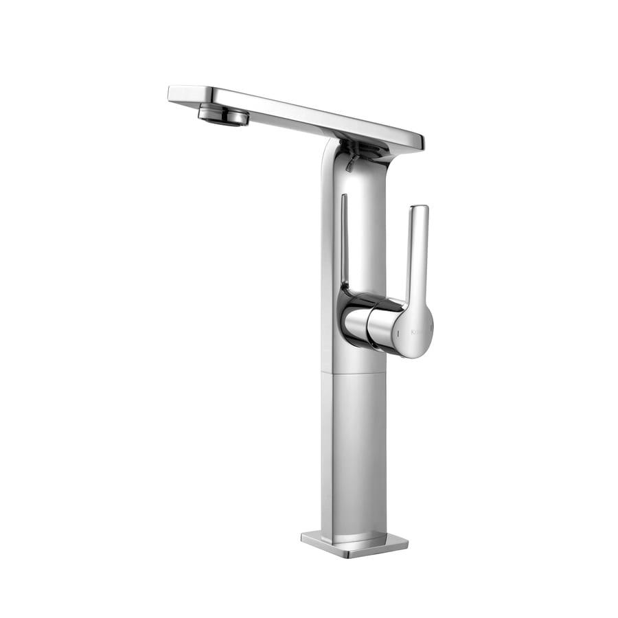 Kraus Exquisite Chrome 1-Handle Vessel WaterSense Bathroom Faucet