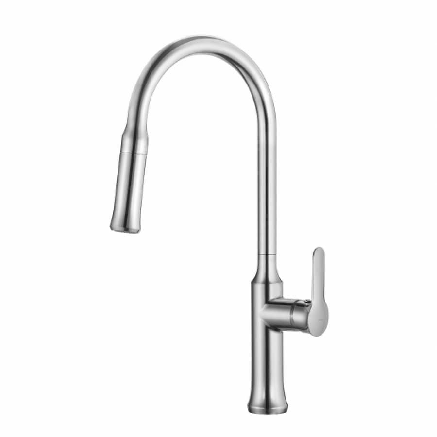 Kraus Pull Down Kitchen Mixer Chrome 1-Handle Pull-Down Sink/Counter Mount Traditional Kitchen Faucet