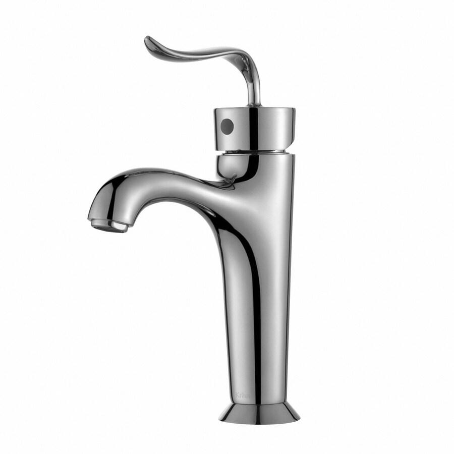 Kraus Premier Chrome 1-Handle Single Hole WaterSense Bathroom Faucet