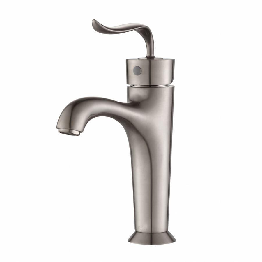 Shop Kraus Premier Brushed Nickel 1 Handle Single Hole Watersense Bathroom Faucet At
