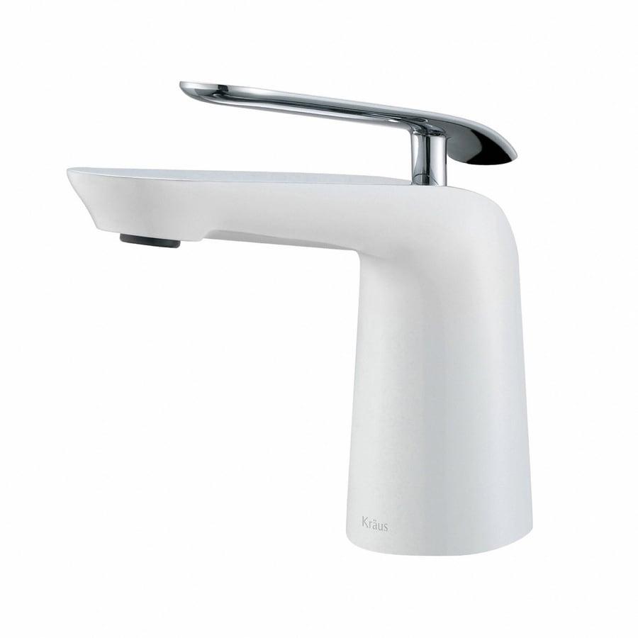 shop kraus premier chrome white 1 handle single