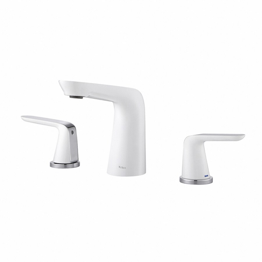 White Faucet Bathroom : ... Premier Chrome-White 2-Handle Widespread WaterSense Bathroom Faucet