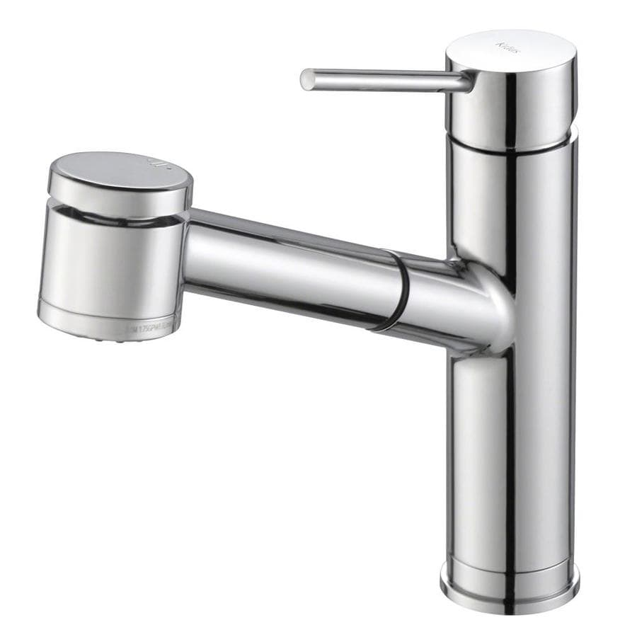 Kraus Mateo Chrome 1-Handle Pull-Out Sink/Counter Mount Traditional Kitchen Faucet