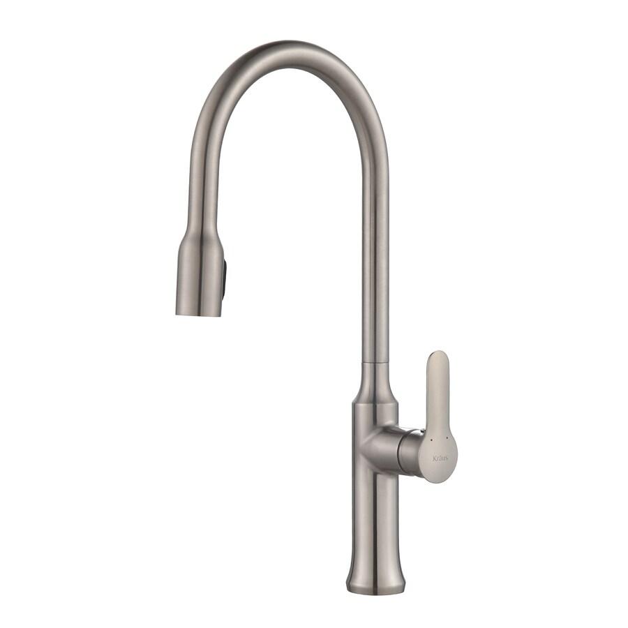 Shop Kraus Nola Stainless Steel 1-Handle Pull-Down Sink