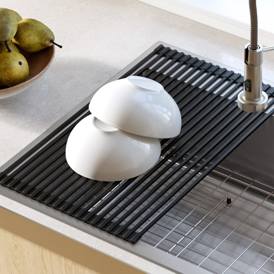 Home-X Over The Sink Stainless Steel Roll Up Drying Mat
