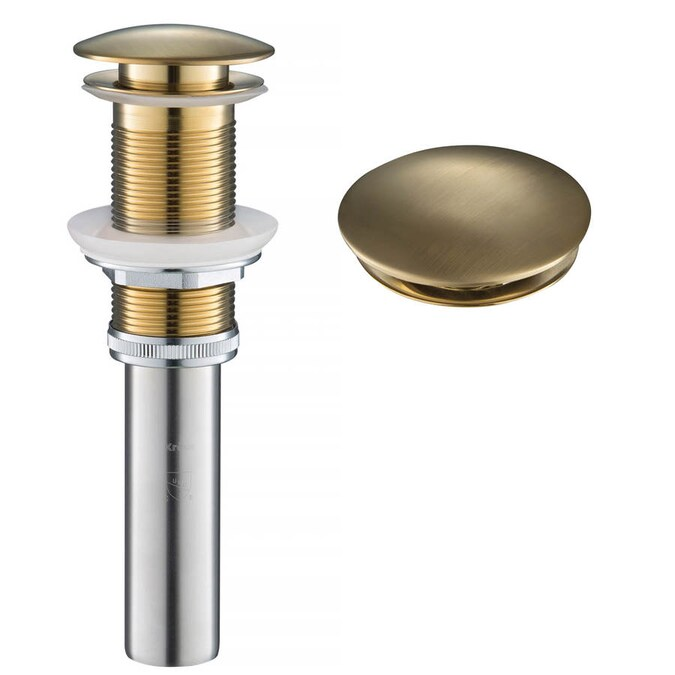 Kraus Gold Universal Sink Pop Up Drain In The Sink Drains Stoppers Department At Lowes Com