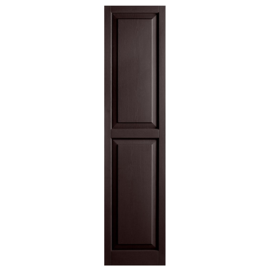 shop alpha 2 pack chocolate raised panel vinyl exterior