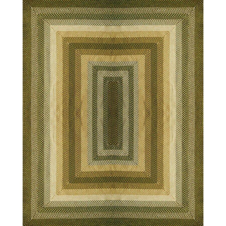 Style Selections Braided Rug Rectangular Indoor and Outdoor Braided Area Rug (Common: 8 x 10; Actual: 96-in W x 120-in L)