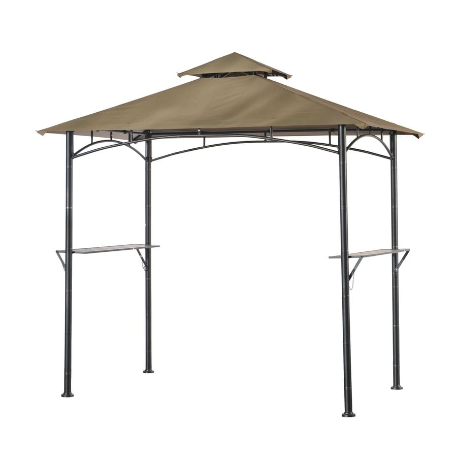 Shop sunjoy black rectangle pop up gazebo foundation 5 ft x 8 ft at - Build rectangular gazebo guide models ...