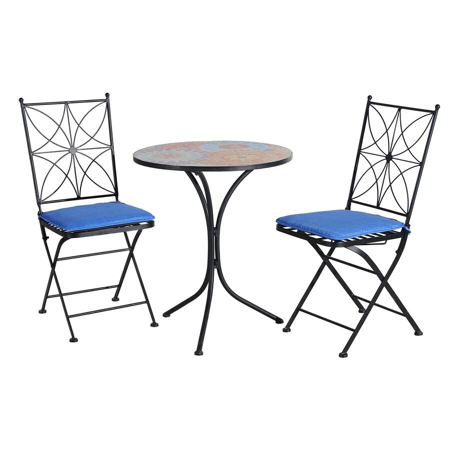 Sunjoy 24-in W x 24-in L Round Steel Bistro Table