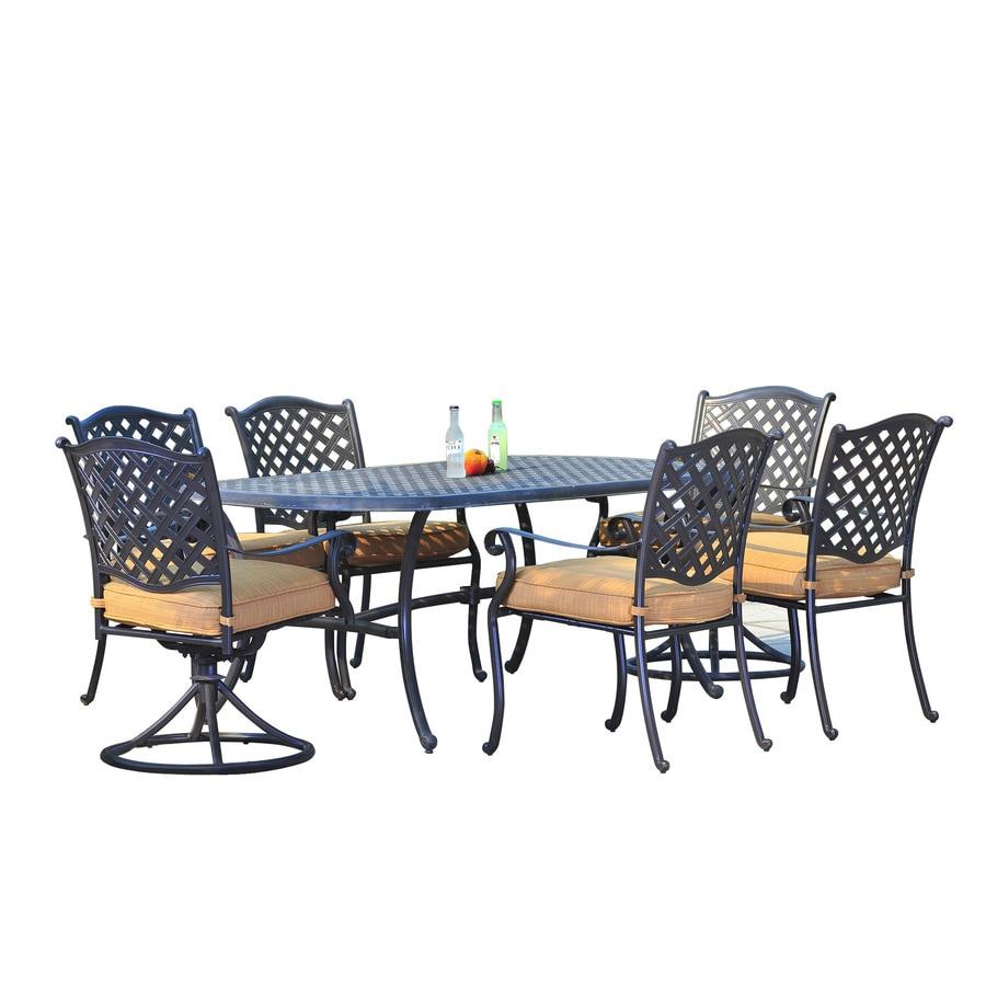 shop sunjoy cast aluminum patio dining set at