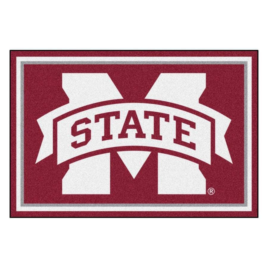 FANMATS Mississippi State University Burgundy Rectangular Indoor Tufted Sports Area Rug (Common: 5 x 8; Actual: 60-in W x 96-in L x 0-ft Dia)