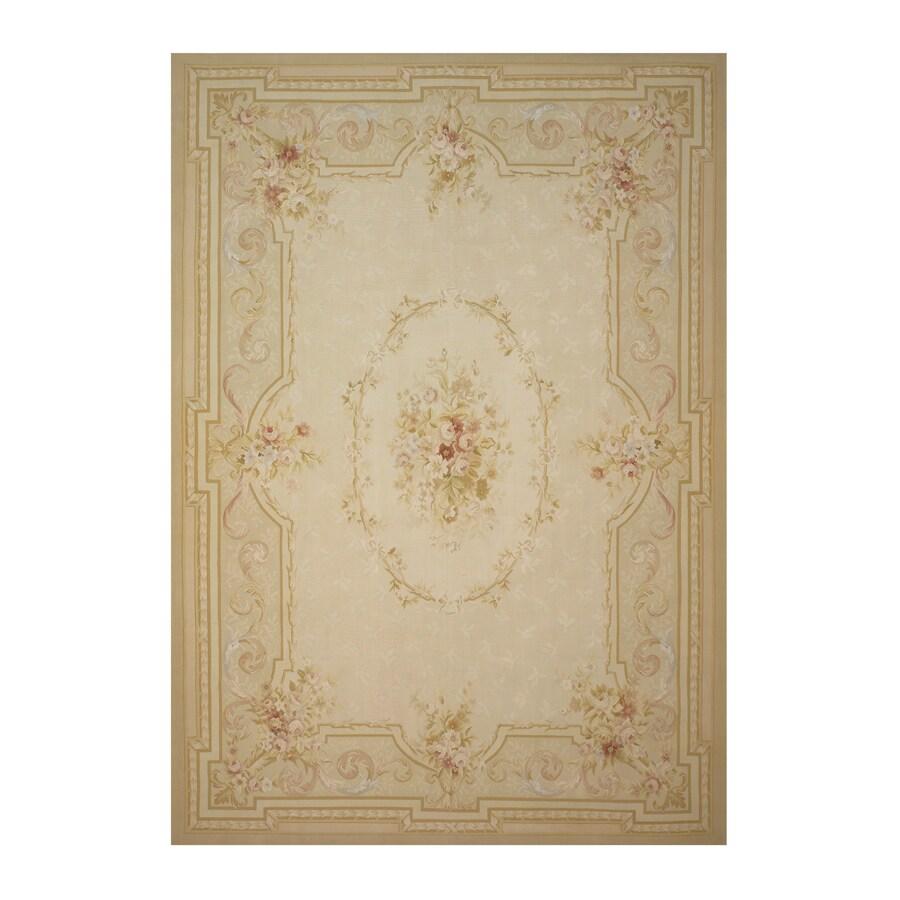 Versailles Cream Rectangular Indoor Hand-Knotted Oriental Area Rug (Common: 9 x 12; Actual: 108-in W x 144-in L)