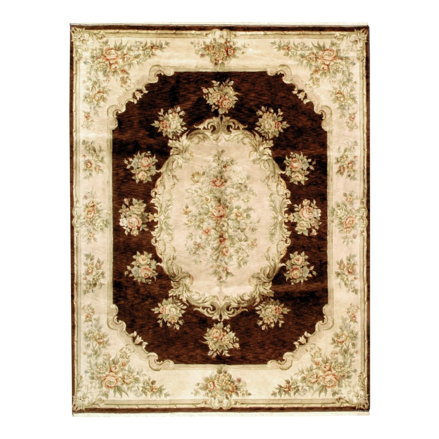 Austrian Brown Rectangular Indoor Hand-Knotted Oriental Area Rug (Common: 10 x 14; Actual: 120-in W x 168-in L)