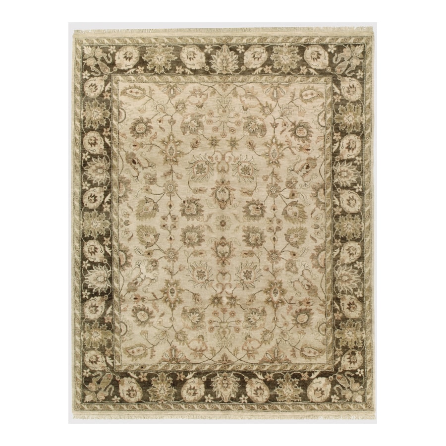 Orissa Fawn Rectangular Indoor Hand-Knotted Oriental Area Rug (Common: 6 x 9; Actual: 72-in W x 108-in L)