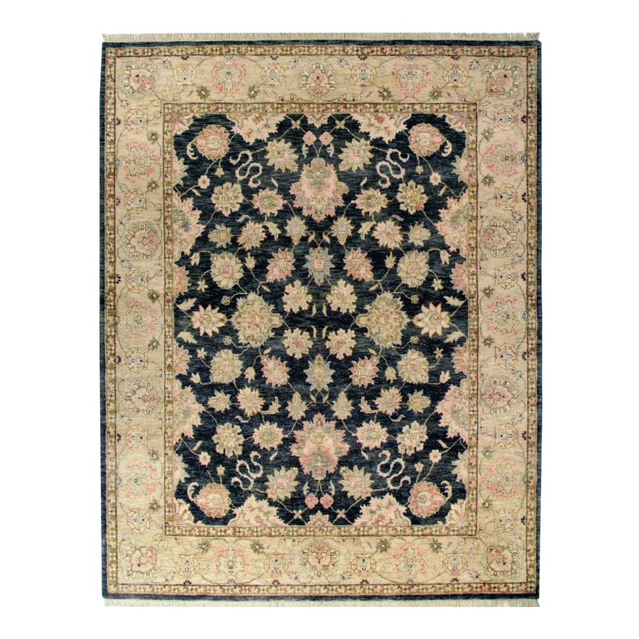 Orissa Graphite Rectangular Indoor Hand-Knotted Oriental Area Rug (Common: 10 x 14; Actual: 120-in W x 168-in L)