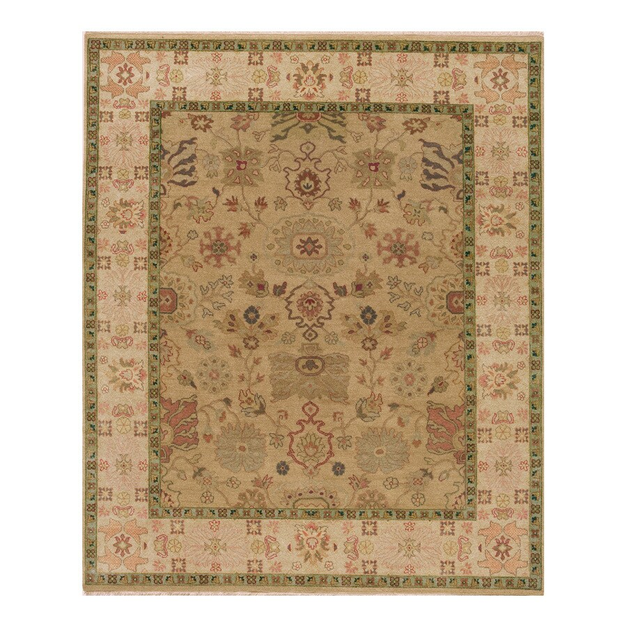 Delhi Gold Rectangular Indoor Hand-Knotted Oriental Area Rug (Common: 8 x 10; Actual: 96-in W x 120-in L)