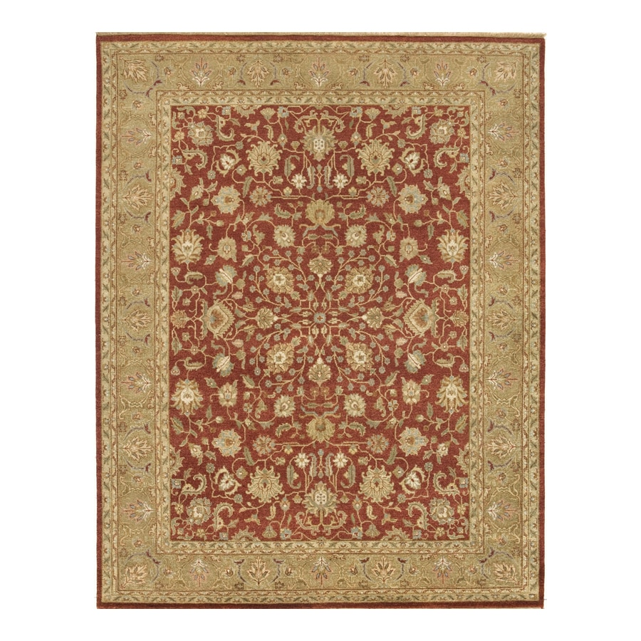 Delhi Brick Rectangular Indoor Hand-Knotted Oriental Area Rug (Common: 9 x 12; Actual: 108-in W x 144-in L)