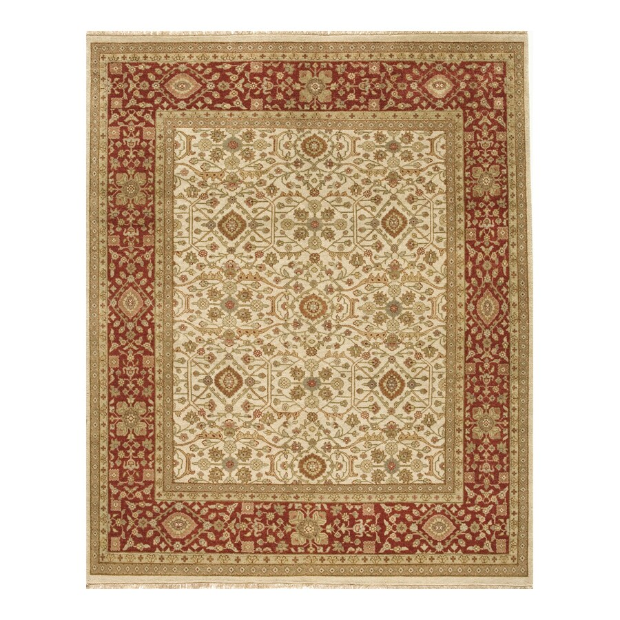 Delhi Ivory Rectangular Indoor Hand-Knotted Oriental Area Rug (Common: 9 x 12; Actual: 108-in W x 144-in L)