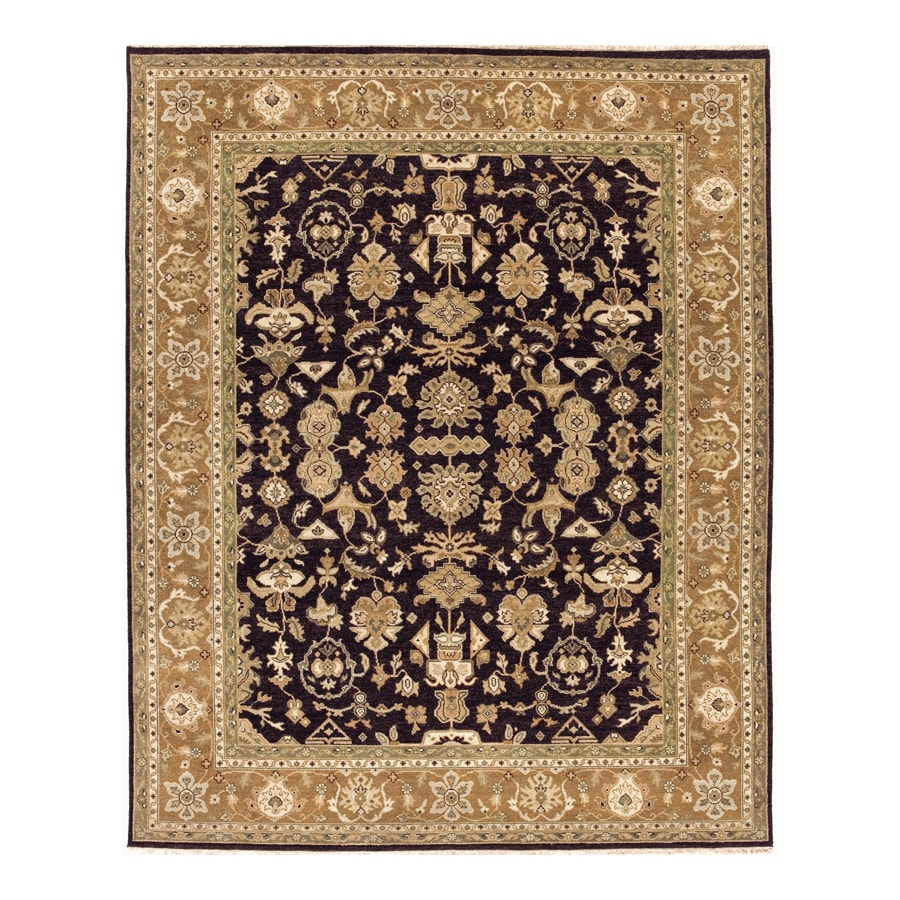 Delhi Black Rectangular Indoor Hand-Knotted Oriental Area Rug (Common: 10 x 14; Actual: 120-in W x 168-in L)