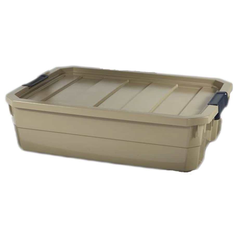 Blue Hawk 10-Gallon Bronze Tote with Latching Lid