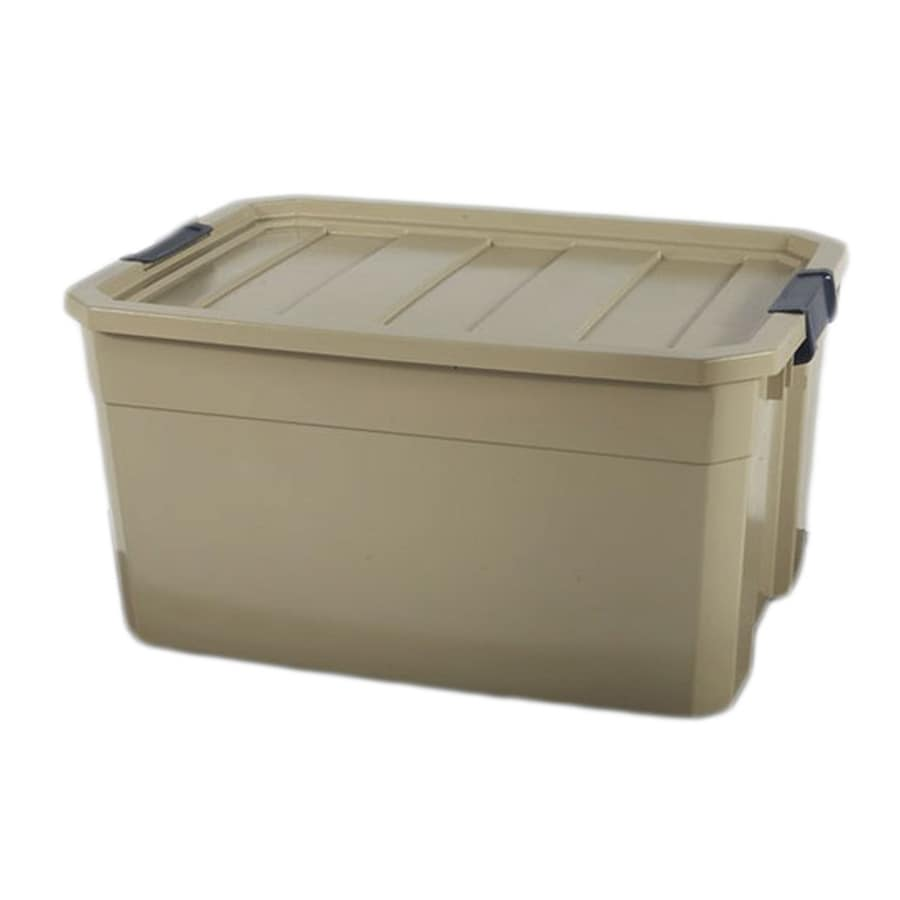 Blue Hawk 19-Gallon Bronze Tote with Latching Lid