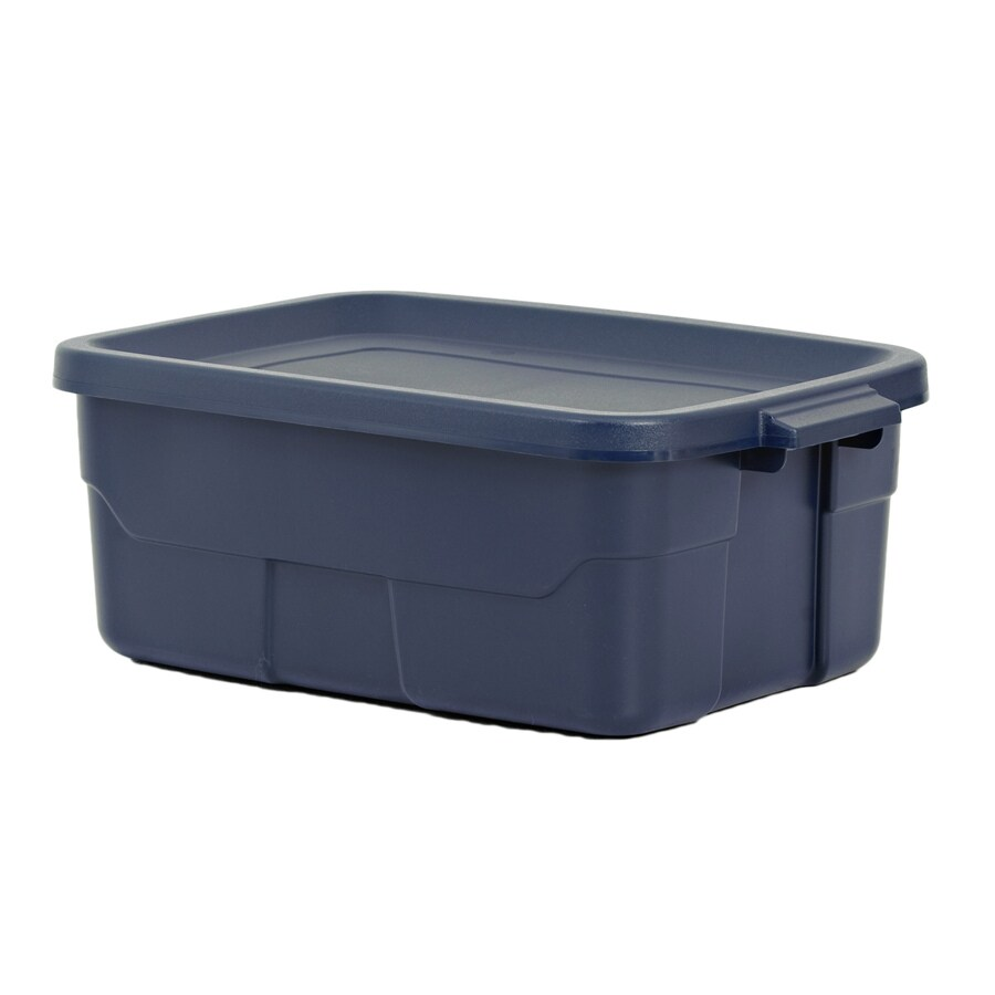 ... Rugged Tote 10-Gallon Blue Tote with Standard Snap Lid at Lowes.com