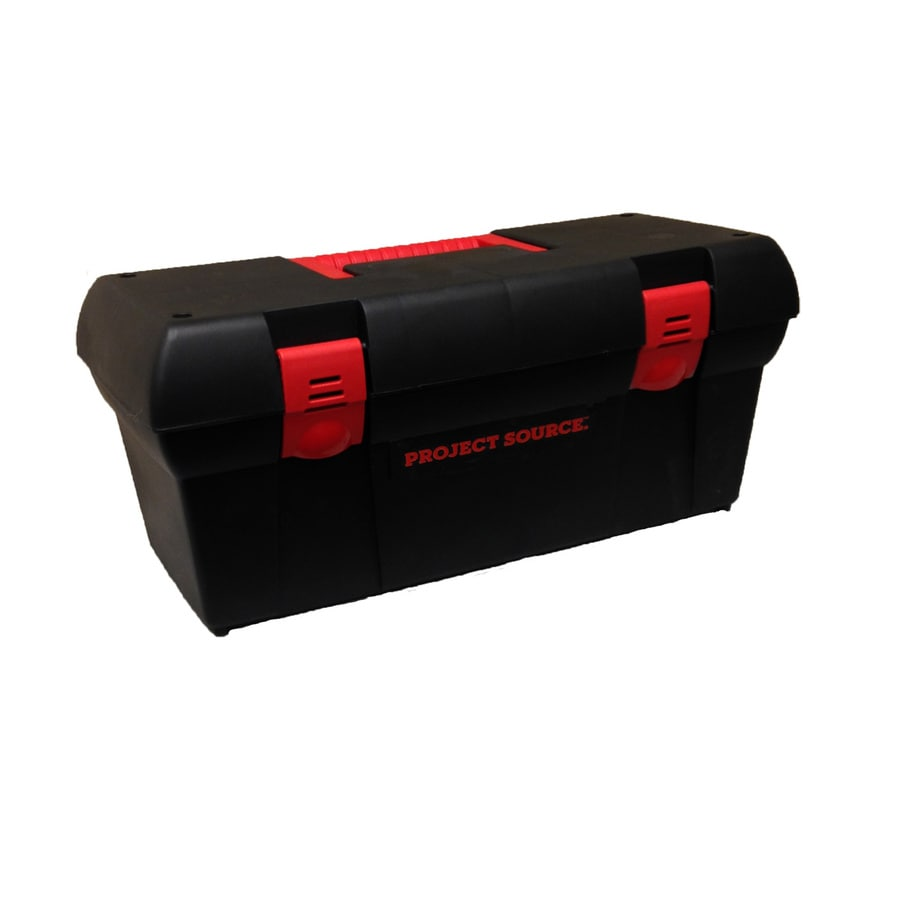Shop Project Source 13 In Black Plastic Tool Box At Lowes Com
