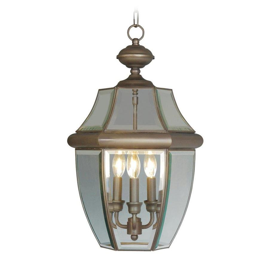 Aberdeen 21-in Bronze Outdoor Pendant Light