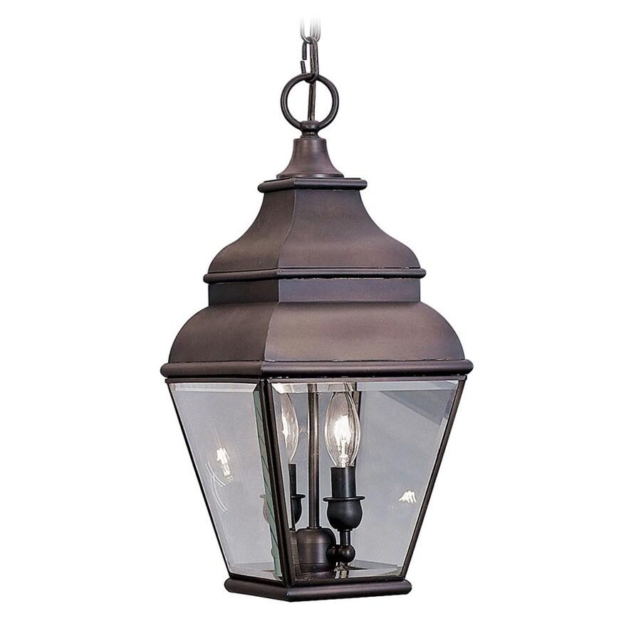 Aberdeen 19-in Bronze Outdoor Pendant Light