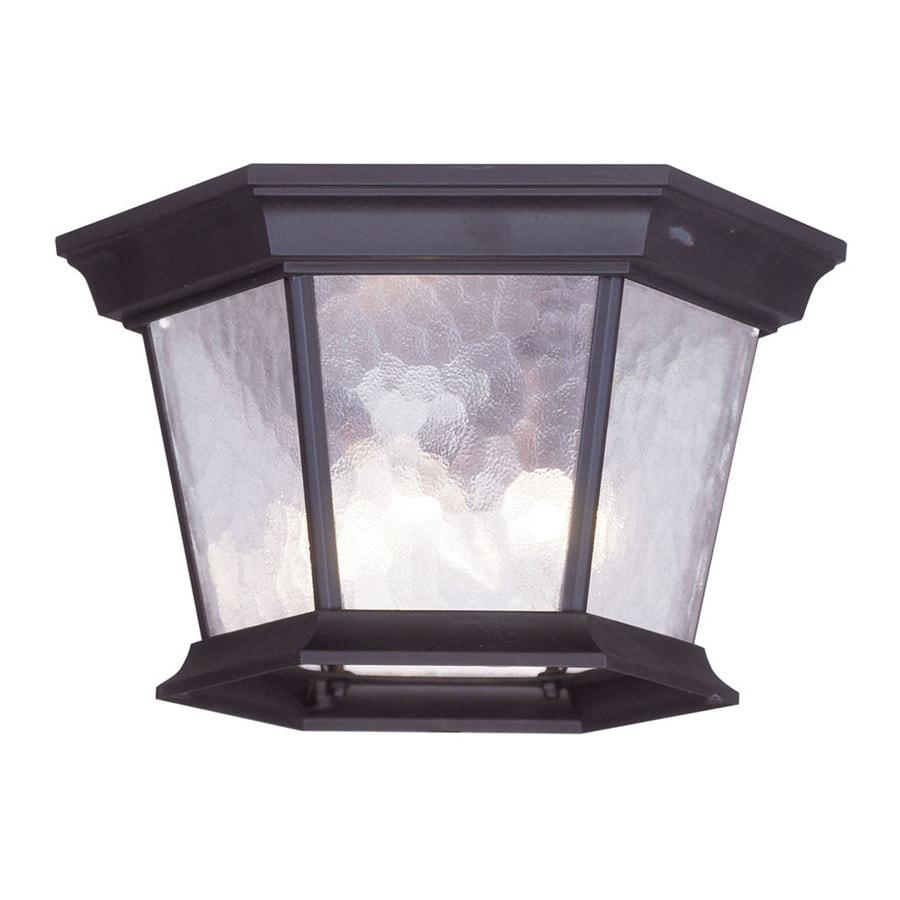 Aberdeen 11-in W Bronze Outdoor Flush-Mount Light