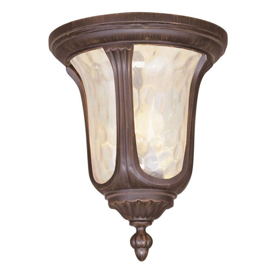 Aberdeen 11-in W Imperial Bronze Outdoor Flush-Mount Light