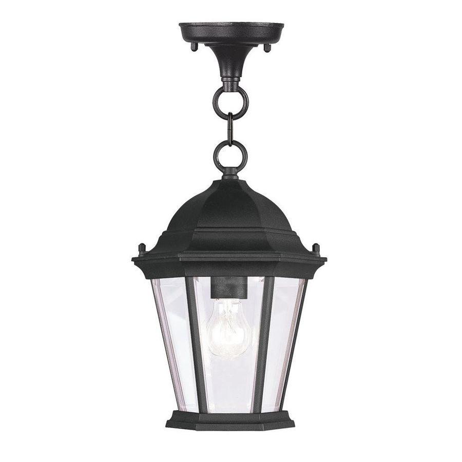 Livex Lighting Hamilton 16-1/2-in Black Outdoor Pendant Light