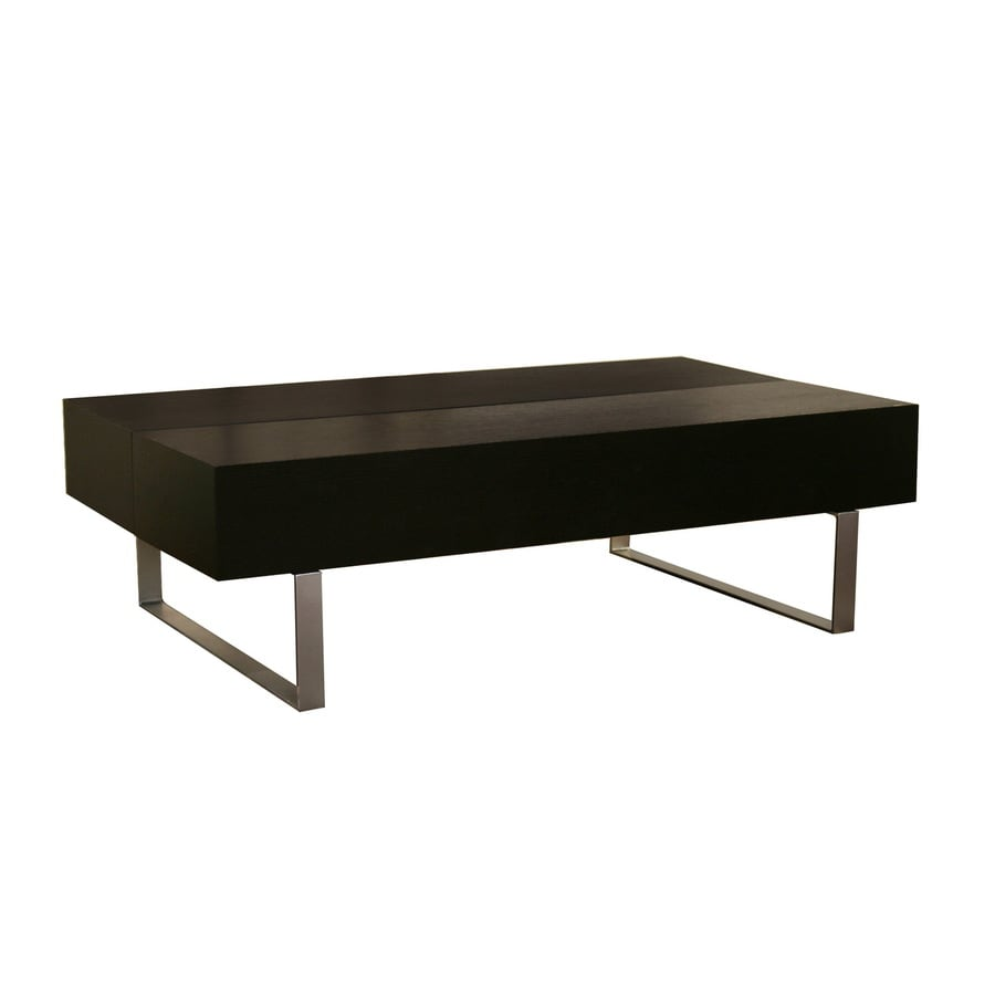 Shop Baxton Studio Black Composite Rectangular Coffee Table At