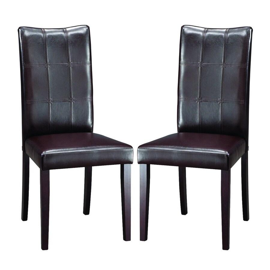 Baxton Studio Set of 2 Dark Brown Side Chairs