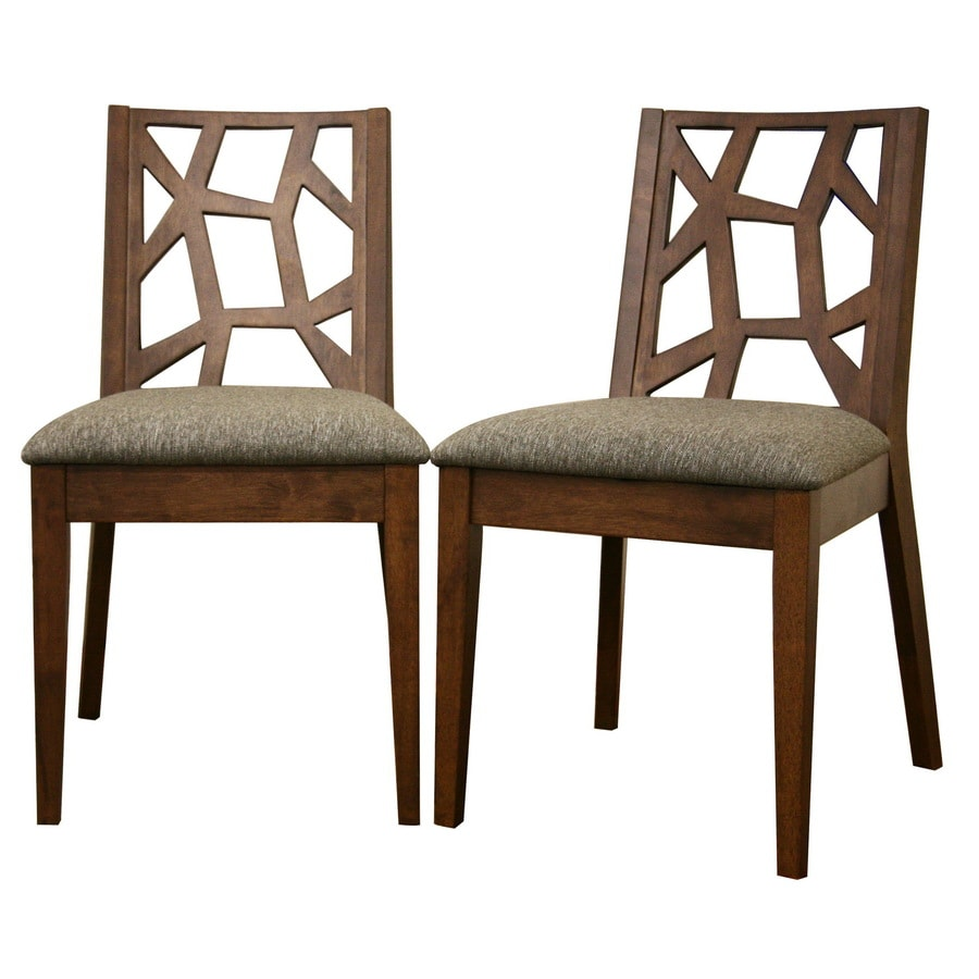 Baxton Studio Set of 2 Baxton Brown Side Chairs