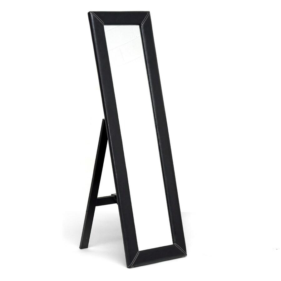 Baxton Studio Dark Brown Rectangle Framed Wall Mirror
