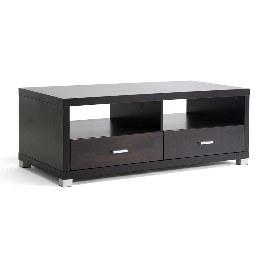 ... Studio Dark Brown Composite Rectangular Coffee Table at Lowes.com