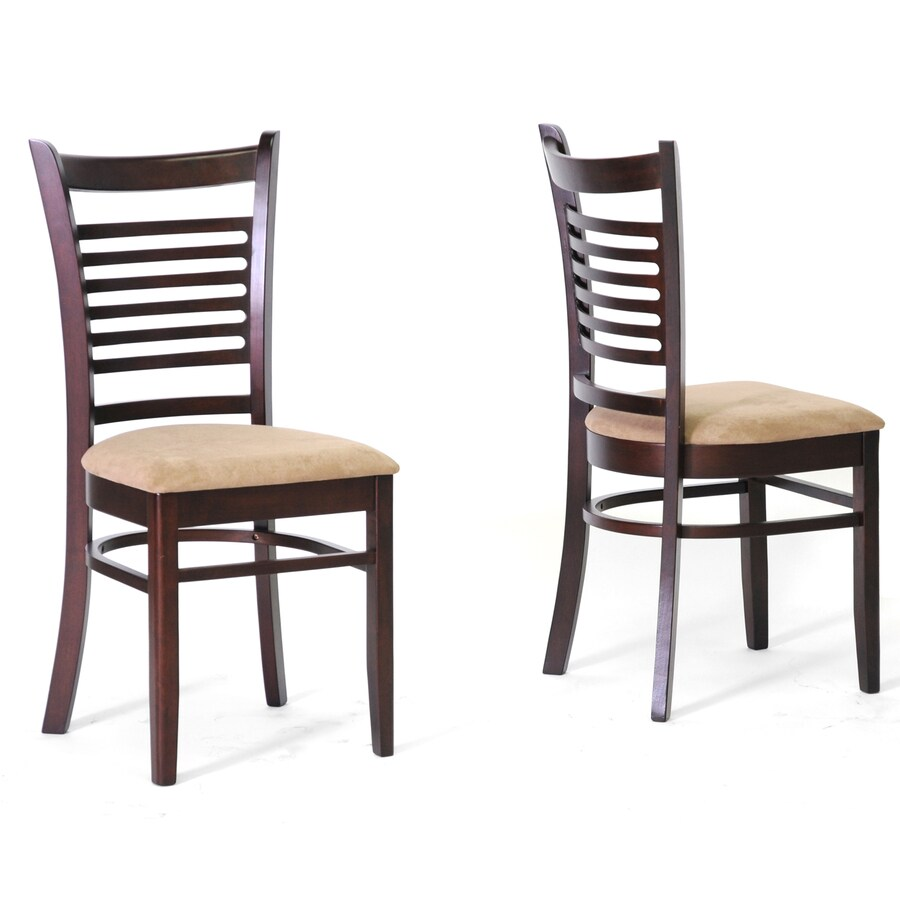 Baxton Studio Set of 2 Dark Brown Side Chairs