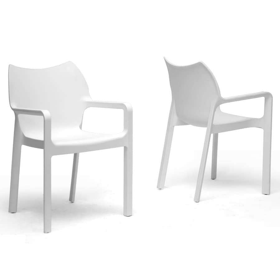 Baxton Studio Set of 2 Limerick White Stackable Side Chair
