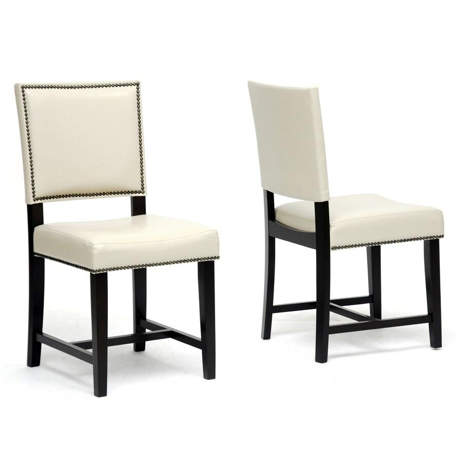 Baxton Studio Set of 2 Nottingham Cream Side Chairs