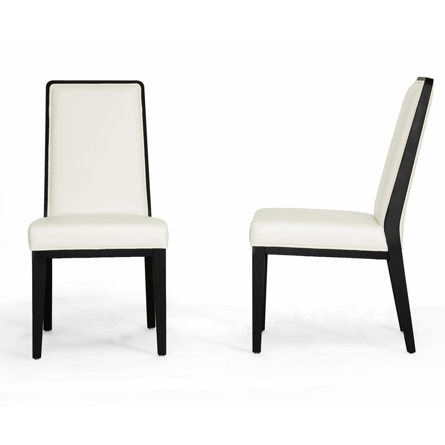 Baxton Studio Set of 2 Theia Cream and Black Side Chair