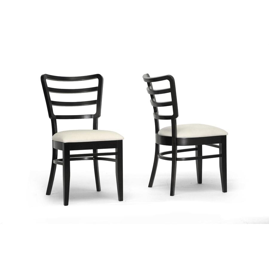 Baxton Studio Set of 2 Coventa Ivory Wenge Side Chair