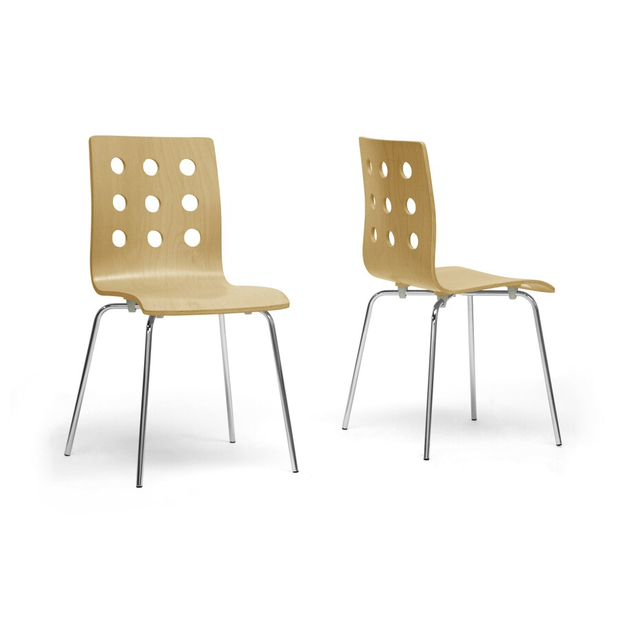 Baxton Studio Set of 2 Celeste Birch Plywood Side Chairs