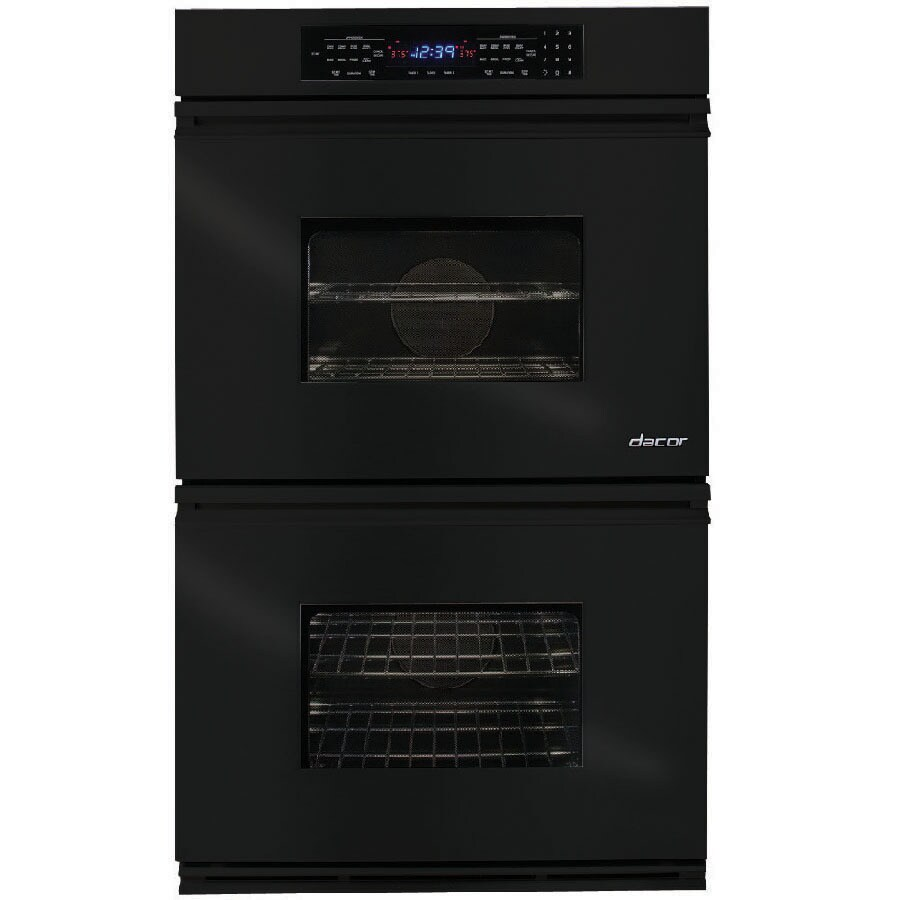 Dacor Convection Single-Fan Double Electric Wall Oven (Black) (Common: 30-in; Actual: 29.87-in)