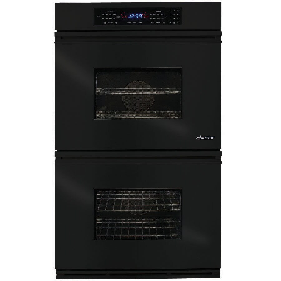 Dacor Convection Single-Fan Double Electric Wall Oven (Black) (Common: 27-in; Actual: 26.87-in)